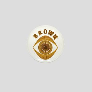 Brown Eye Mini Button