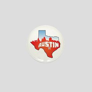 Austin Texas Skyline Mini Button