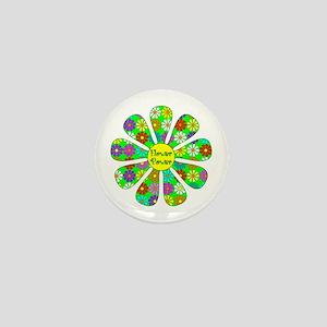 Cool Flower Power Mini Button
