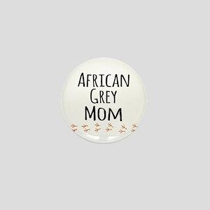 African Grey Mom Mini Button