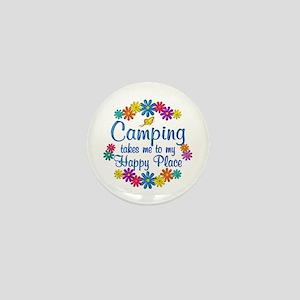 Camping Happy Place Mini Button