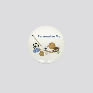 Personalized Sports Mini Button