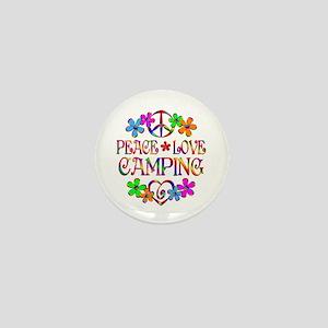Peace Love Camping Mini Button
