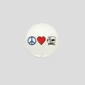 Peace Love & Camping Mini Button
