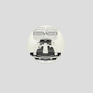 Camaro Black 1969 Mini Button