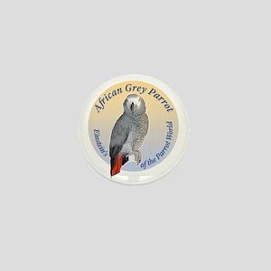 Einstein of the Parrot World (African  Mini Button