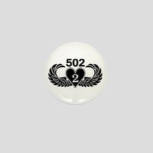 2-502 Black Heart Mini Button