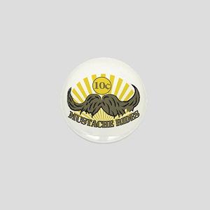Mustache ride Mini Button