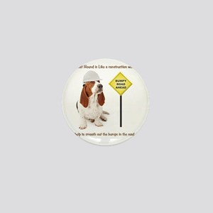 Basset Hound Construction Worker Mini Button