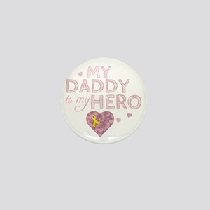 daddy is my hero pink Mini Button