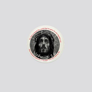 John 3:16 Crown of Thorns 6x6 Mini Button