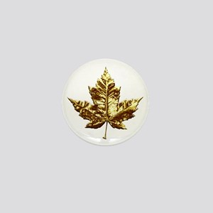 Gold Canada Souvenir Mini Button