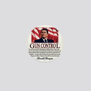 ronald reagan guncontrol Mini Button