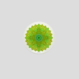 Green Yellow Earth Mandala Shirt Mini Button