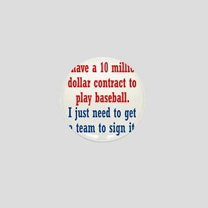 baseball-contract1 Mini Button