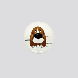 BassetDroolDark Mini Button