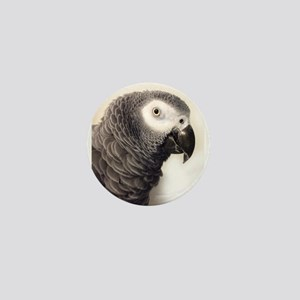 African Grey Parrot Mini Button
