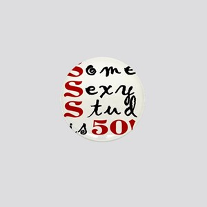 Funny 50th Birthday Gift For Men Mini Button