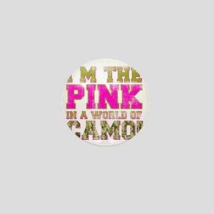pink Mini Button