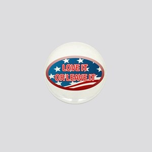 LOVE IT OR LEAVE IT! AMERICAN FLAG Mini Button