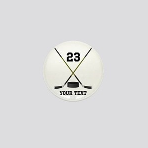 Ice Hockey Personalized Mini Button