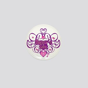 Daddy's Girl Pink/Fuschia Mini Button