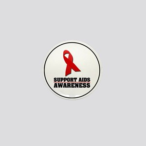 AIDS Awareness Mini Button