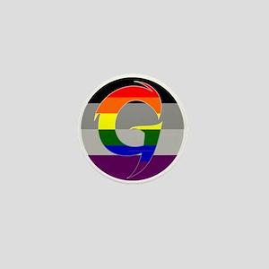 "Homoromantic Asexual (""G"") Mini Button"