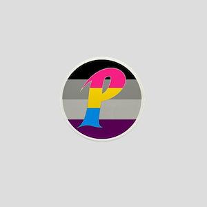 Panromantic Asexual Mini Button