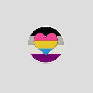 Panromantic Asexual Heart Mini Button