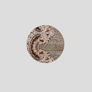 rustic wood lace Mini Button