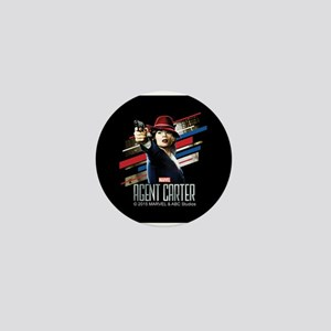 Agent Carter Stripes Mini Button