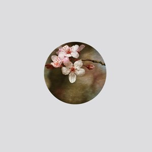 cherry blossom flowers Mini Button