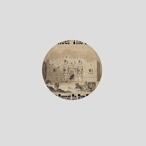 remember_the_alamo_1854_drawing_antiqu Mini Button