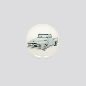 1956 Ford truck Mini Button