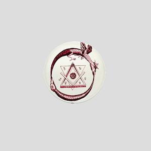 Alchemical Ouroboros Mini Button