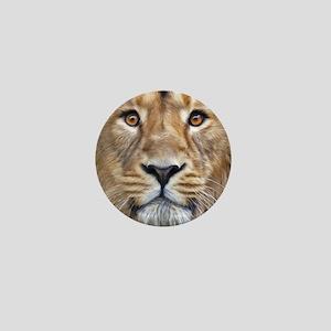 Realistic Lion Painting Mini Button