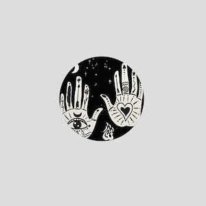 Mystic Hands Mini Button