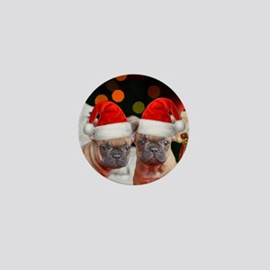 Christmas French Bulldogs Mini Button