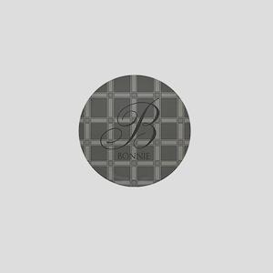 Custom Monogram Charcoal Mini Button
