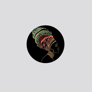 African Woman Mini Button