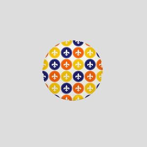 fleur pattern Mini Button
