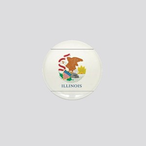 Illinois State Flag Mini Button