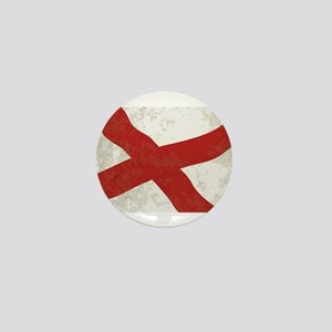 Alabama Sate Flag Grunge Mini Button