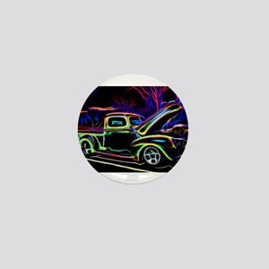 1940 Ford Pick up Truck Neon Mini Button