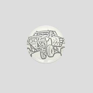 Off-Road Race Truck Grey Mini Button