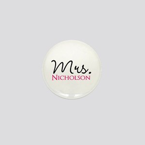 Customizable Name Mrs Mini Button