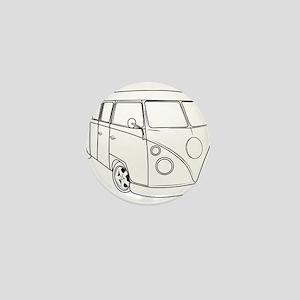 70s Van Mini Button