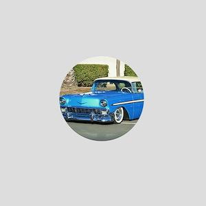 Classic Blue Car Mini Button