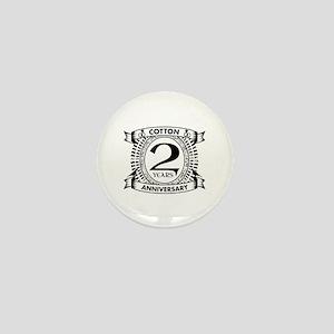 2nd cotton Wedding anniversary Mini Button